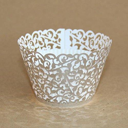 Miss Bakery's House® Cupcake Wrapper - Filigrane - Silber - 50 Stück (Silber Wrapper Cupcake)