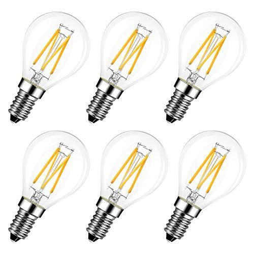 LVWIT 4W Ampoule LED E14 à Filament, LED ampoule 470 Lumen, Equivalent à Ampoule Incandescence...