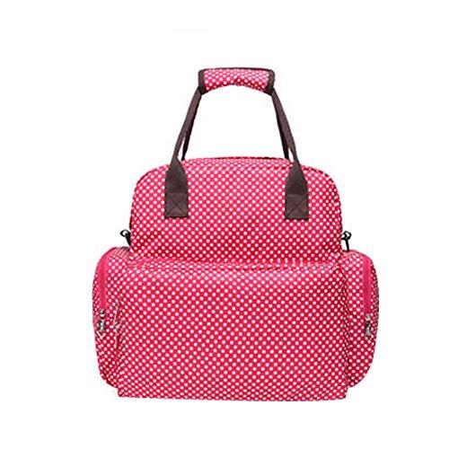 Preisvergleich Produktbild Multifunktionale Baby Umhängetasche Schultertasche Außenhandel Mutter Windeltasche Mamabeutel Rücktasche Pflegetasche Muttertasche Rot Schwarz