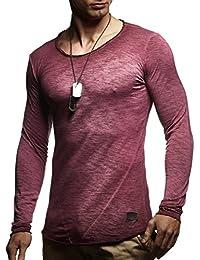 LEIF NELSON Herren Pullover Longsleeve Hoodie Sweatshirt Sweatshirt Basic Rundhals Langarm oversize Shirt Hoody Sweater LN6302