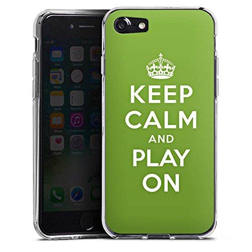 Apple iPhone X Silikon Hülle Case Schutzhülle Keep Calm Games Konsole Silikon Case transparent