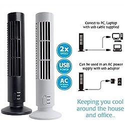 Gooseberry NEW Portable USB Mini No Leaf Bladeless Cool Desk Tower Fan..