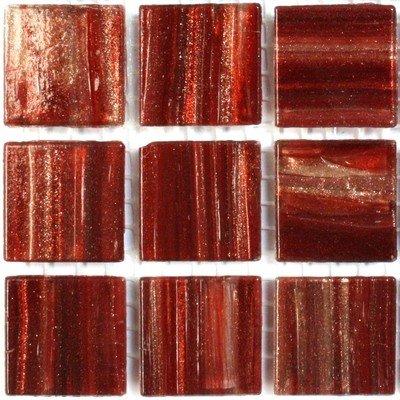 Carreaux de mosaïque – 225 Doré Bordeaux Marron vitreux mosaïque de verre 20 mm carrelage Ga76