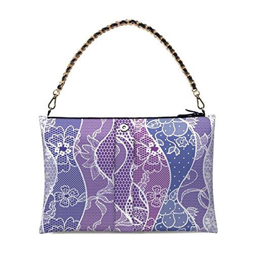 Koreanische Spitze-Dame-Handtaschen-Normallack-Schulter-Beutel A