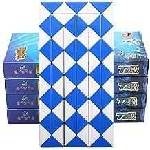 HJXDtech-XLX Level.4th 72 piezas magia serpiente plegable Twist cubo puzzle rompecabezas de color mágico juguete (1 paquete de color al azar)