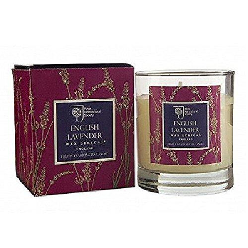 RHS - Candela profumata con porta-candela in vetro, fragranza: Lavanda