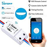 Sonoff Smart Hogar Wifi Smart Switch, Interruptor Temporizador de Control Remoto Inalámbrico Inteligente DIY 220v Domótica compatible con Android IOS Smartphone