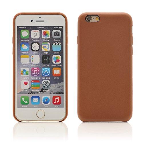 iProtect Kunstleder Schutzhülle Apple iPhone 6 Plus flexibles Case in Grau Nussbraun