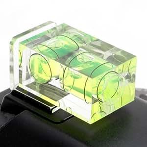 Quenox Kamera-Wasserwaage mit 2 Libellen (Hoch- und Querformat) für Standard ISO Blitzschuh