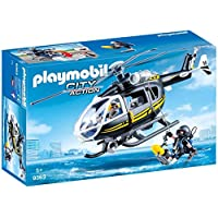 Playmobil 9363 City Action SWAT Helicopter with Working Winch