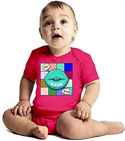 Oh Yeah Amazing Quality Baby Bodysuit by Benito Clothing - Made From 100% Organic Cotton- Super Soft V-Neck Style - Unisex Design- Perfect As A Present 6-12 months