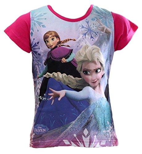 in Kollektion 2016 T-Shirt 98 104 110 116 122 128 Mädchen Disney Shirt Anna und Elsa (110 - 116, Fuchsia) (Disney Frozen Elsa Kind Hoodie)