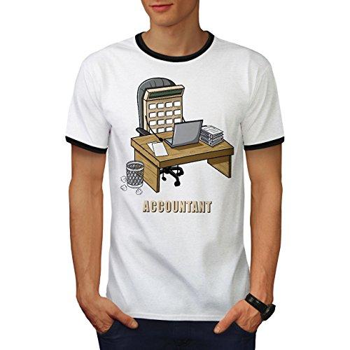 wellcoda Buchhalter Job Männer L T-Shirt Zurück