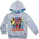 Transformers Pullover Jungen Hoodie (Grau, 98-104)