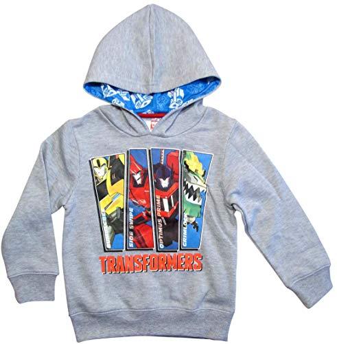Transformers Pullover Jungen Hoodie (Grau, 116)