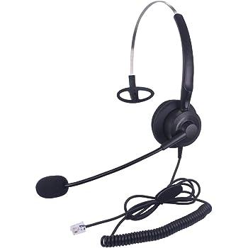 Xintronics Cuffie Telefono Fisso Monoaurale RJ9 con Microfono a  Cancellazione del Rumore daf75b550e38