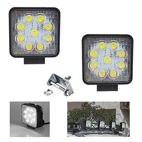 VINGO® 2X Arbeitsscheinwerfer LED 12v 27w Scheinwerfer Außen Zusatzscheinwerfer Wasserdicht IP67 10-24V DC - Akku-halterung Atv
