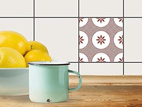 Réparation baignoire | Carrelage Sticker Autocollant - Art de tuiles mural | Design Ornament Light 3 | 10x10 cm (1 pièce)