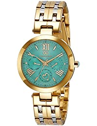 Gio Collection Analog Blue Dial Women's Watch-G2019-77