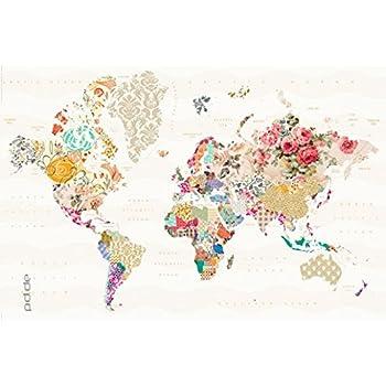 Poster Welt Der Muster Landkarte Weltkarte Größe 61 X 91 5 Cm Maxiposter