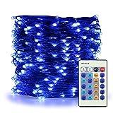 Câble Lumineux étanche à 200LED 20m Guirlande Lumineuse Guirlande Lumineuse avec télécommande minuterie 8Mode pour décorations de Noël extérieur intérieur fête Jardin Décor, Femme, Bleu