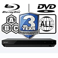 Sony UBP-X700 Smart 3D 4K Ultra HD WiFi Dolby Atmos Dolby Vision ICOS Multi Region All Zone Blu-ray Player. Blu-ray Zones A, B and C, DVD Regions 1-8. 2 x HDMI Outputs Hi-Res Playback 4K Streaming