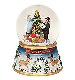 Spieluhr Schneekugel Ø 10 cm x H 15 cm Weihnachten mit Licht und Bewegung
