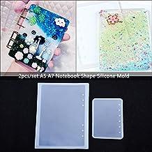2 unids/set A5 A7 Notebook Forma Art Decortive Moldes De Silicona Resina Epoxi para