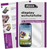 dipos I 4X Schutzfolie klar passend für Samsung Galaxy S4 i9500 Folie Displayschutzfolie