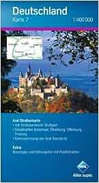 Aral Deutschland Karte 7 / 1:400 000 / Süd-West, Baden