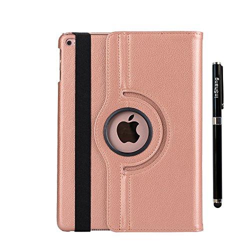 inShang iPad Pro 12.9 inch Housse Coque pour iPad Pro 12.9 inch (2015) Etui Smart Cover Case, automatiquement Veille et Sortir, avec Support Fonction, Rotatif 360 Degre Logo Stylet