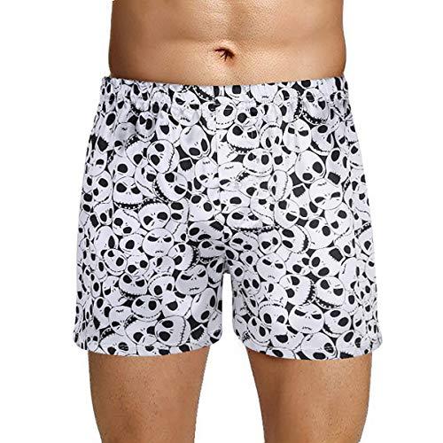 Agoky Herren Boxer Shorts Kurze Hose Satin Unterhosen -