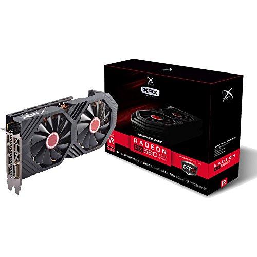XFX RX-580P427D6 - Grafikkarte Radeon RX 580 GTS 1366MHz 4GB PCI Express, Schwarz