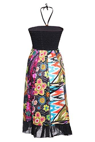 Gonna maxi o abito, colorato e decorato con il patchwork con fascia elastica in vita, ca. 100 cm disegno 8