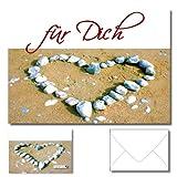DigitalOase Grußkarte Muttertag Geschenkkarte Für Dich - Glückwunschkarten Einladungskarten Muttertagskarten Valentinskarten 1 Klappkarte incl. 1 weißes Kuvert GROSS UND EINDRUCKSVOLL DIN A5 (aufgeklappt DIN A4: ca. 20 x 30 cm) - aussen Glanzdruck - innen gut beschriftbar - DigitalOase ist Markenware
