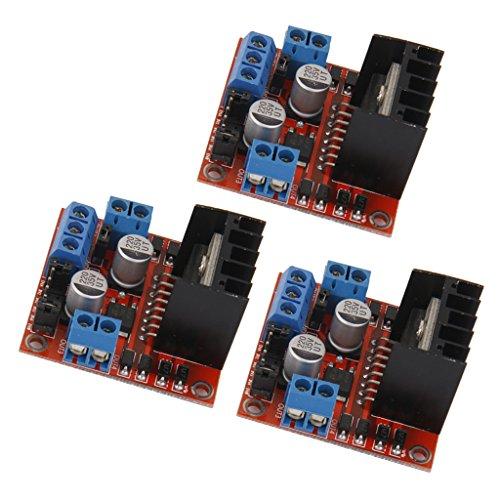 Homyl 3 x Doppel-H-Brücke DC Stepper Motor Drive Controll Board Modul L298N für Arduino
