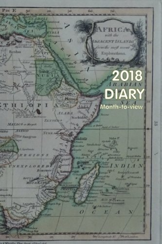 2018 Diary (month to view):: Vintage map Africa with the adjacent islands
