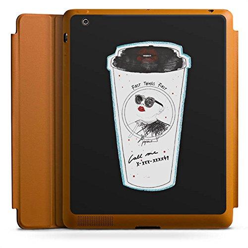 d 4 Smart Case karamell Hülle mit Ständer Schutzhülle Coffee Kaffee Becher ()