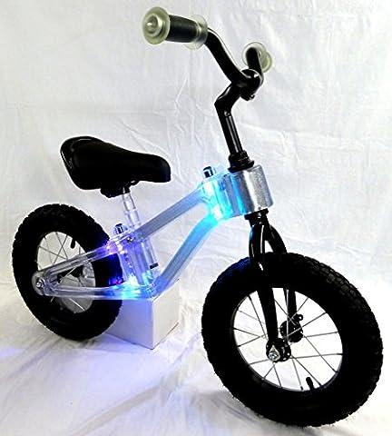 Laufrad mit Rahmen Beleuchtung multicolor Kinderlaufrad Kinder Fahrrad Lernlaufrad