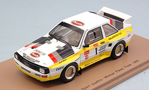 AUDI QUATTRO S1 N.1 WINNER PIKES PEAK HILL CLIMB 1985 M.MOUTON 1:43 - Spark Model - Auto Competizione - Die Cast - Modellino