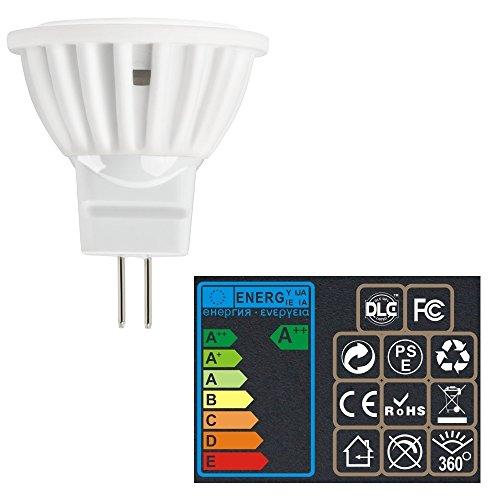 S*Bombilla Fácil de Instalar Lámpara LED灯泡 Cup MR11 4W Proyector Contador de Techo Foco LED灯泡 Luces Practico (Color : Warm Light)