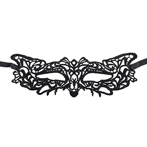 MoGist Venezianischen Maskerade Maske Tiger Gesicht Schwarz Spitze Durchbrochene Masken Damen Halloween Requisiten 1 St¨¹ck