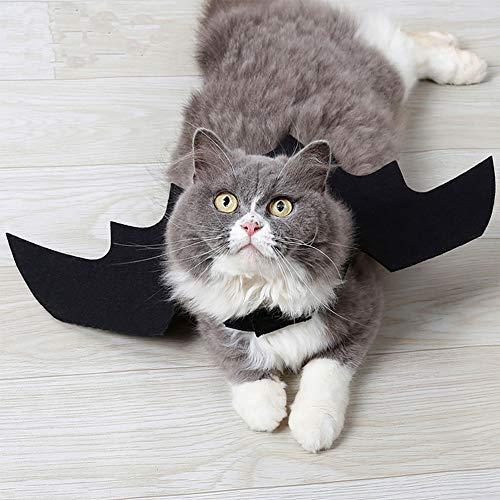 Hause Einfach Kostüm Zu Katze - OUYAWEI Halloween Pet Bat Black Wings Katze Hund Bat Kostüm Haus Dekoration