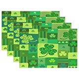 GOODSTHING napperon, Lucky Clover Shamrocks Placemats for Dining Table Heat Resistant...
