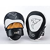 #5: HOOK & JAB CURVED LEATHER BLK/WHT/TAN S/M