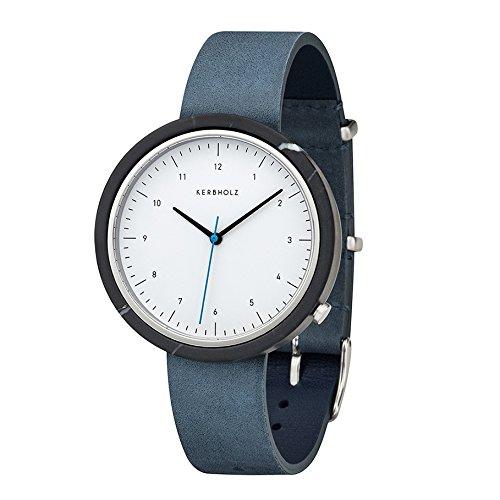 Kerbholz Herren Analog Quarz Uhr mit Leder Armband 4251240404059