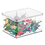mDesign Organizador de juguetes con tapa - Cajas de
