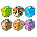 Diamante Crafts 40 x Cartoon Jungle Party Lunch Boxes