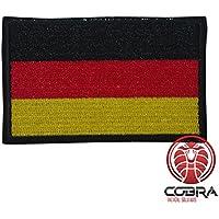 Cobra Tactical Solutions Parche Bordado Parche Militar con Cinta adherente para la Bandera de Airsoft/Paintball Alemania para Ropa de Mochila táctica.