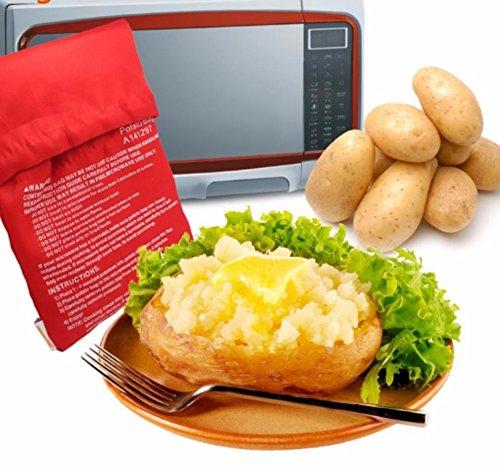 CHIPYHOME Bolsa microondas para asar patatas en 4 min mazorcas de maíz, pan del día anterior, y agregar condimentos a su gusto. pure de patata con todo el sabor. Lavable y reutilizable